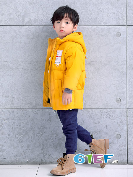巴迪小虎BaDi Tiger童装品牌2018秋冬新款韩版潮儿童裤子男小童加厚长裤
