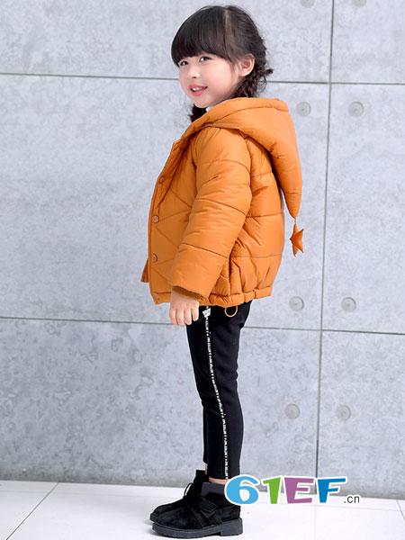 巴迪小虎BaDi Tiger童装品牌2018秋冬短外套立领加厚