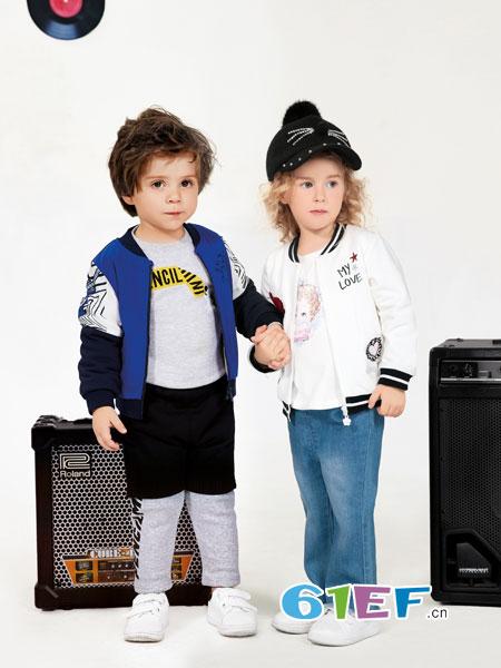 铅笔俱乐部龙8国际娱乐官网品牌2018秋冬儿童套装纯棉三件套潮