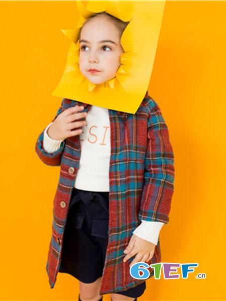 五月童品 mayosimple童装品牌2018秋冬毛呢外套短款小个子呢子大衣潮