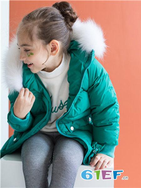 五月童品 mayosimple童装品牌2018秋冬中长款白鸭绒外套
