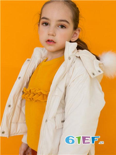 五月童品 mayosimple童装品牌2018秋冬毛领棉袄中大童女孩加厚棉衣棉服外套潮