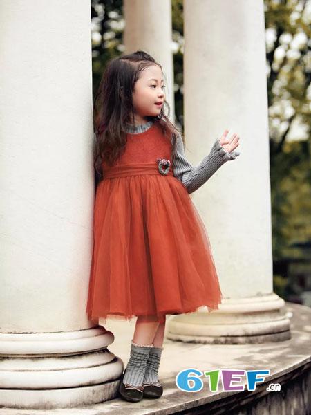 WISEMI威斯米童装品牌2018秋冬公主裙蓬蓬纱裙韩版儿童连衣裙