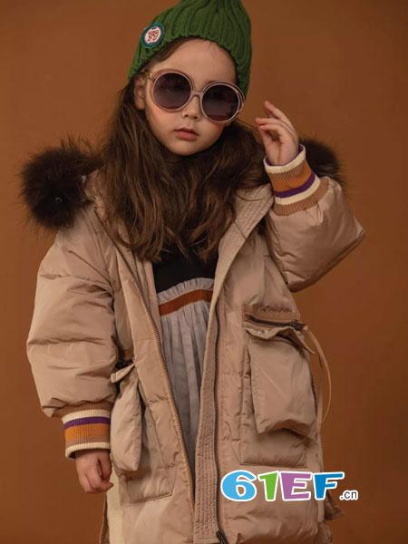 WISEMI威斯米童装品牌2018秋冬加厚菱形格子长外套