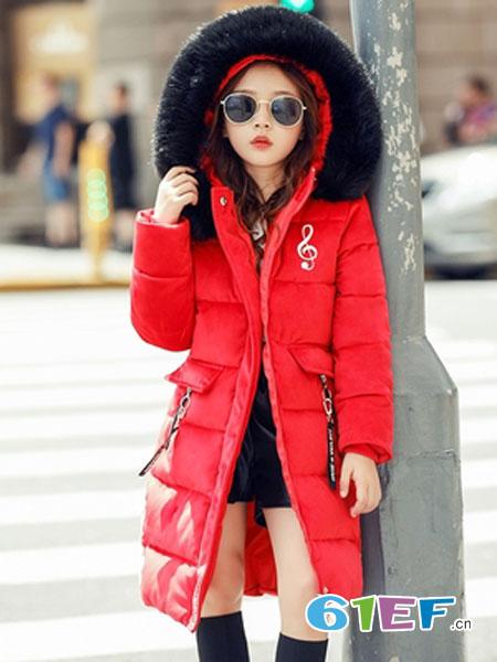 可娃衣童装品牌2018秋冬韩版中长款棉袄中大童洋气棉服加厚外套