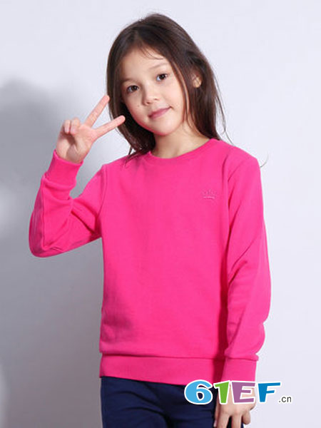 Bossini Kids堡狮龙童装品牌2018秋冬刺绣儿童长袖女童卫衣