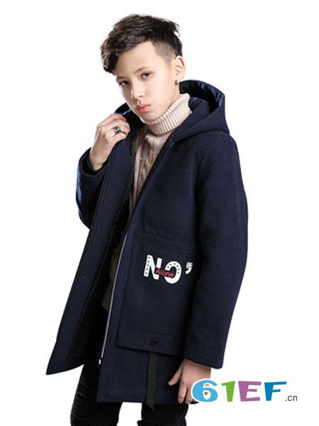 维尼力啦童装品牌2018冬季中大童呢子大衣儿童洋气韩版