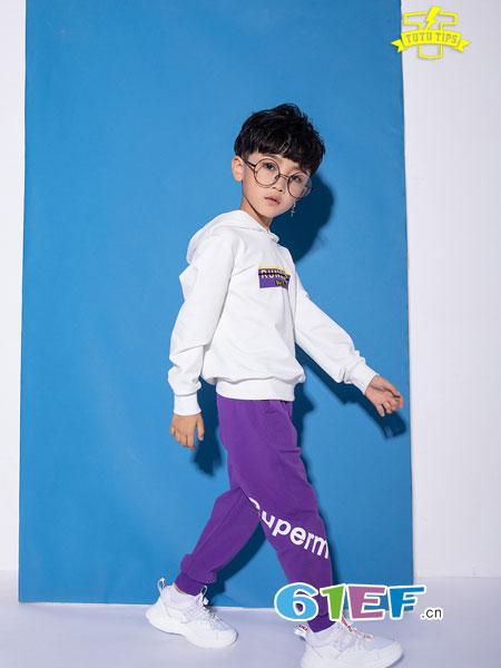 图零钱 TUTU Tips童装品牌2018秋冬时尚套头韩版宽松休闲卫衣