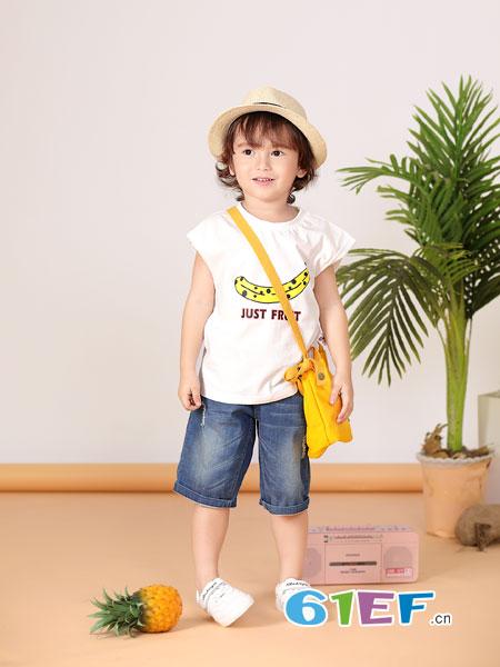 波波龙龙8国际娱乐官网品牌2019春夏新款儿童背心套装纯棉两件套