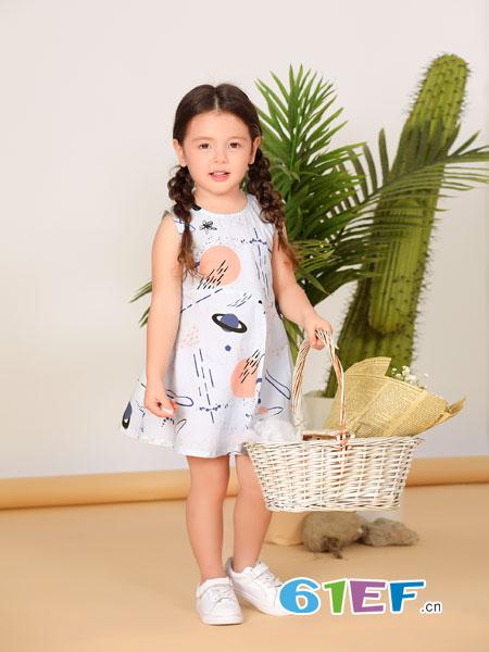 波波龙龙8国际娱乐官网品牌2019春夏新款龙8国际娱乐官网网纱公主裙儿童洋气裙子