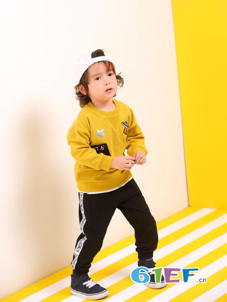波波龙童装品牌2019春夏卫衣两件套运动男孩儿童