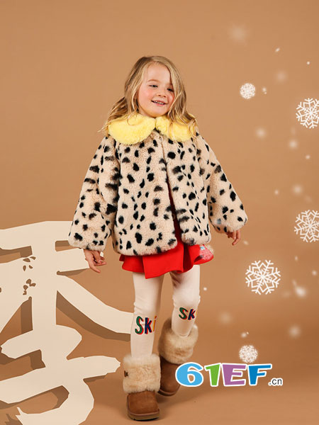BEBE DE PINO(贝贝品诺)童装品牌2018秋冬豹纹金丝绒外套