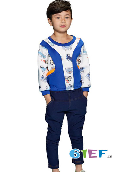 天马流星龙8国际娱乐官网品牌2018春夏创意汽车印花拼接卫衣