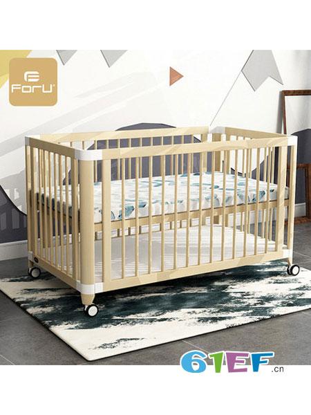 芙儿优婴童用品床多功能日式 榉木实木可拼接大床