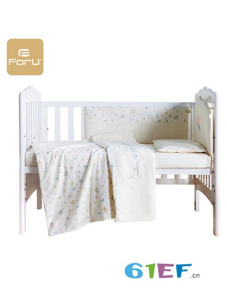 芙儿优婴童用品床上用品全棉7套件 宝宝儿童床围被子