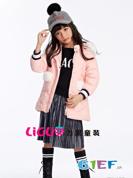 力果龙8国际娱乐官网品牌2018秋冬公主裙儿童针织裙两件套