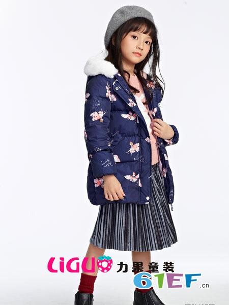 力果龙8国际娱乐官网品牌2018秋冬时尚可爱棉衣长袖中长款印花棉服