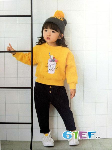 青稚童装品牌2018秋冬百搭时尚圆领针织衫