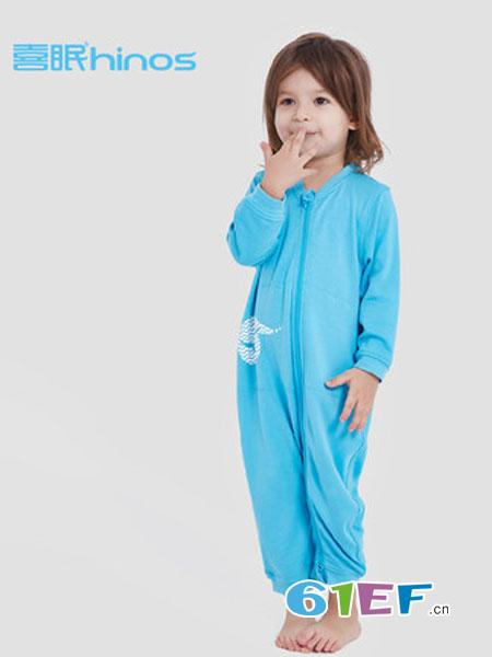喜眠童装品牌2018秋冬睡衣速干婴儿连体长袖款爬爬服