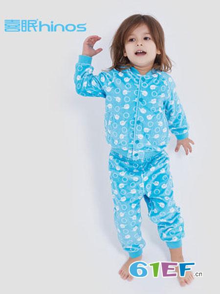 喜眠童装品牌2018秋冬排汗保暖绒婴儿睡衣套装