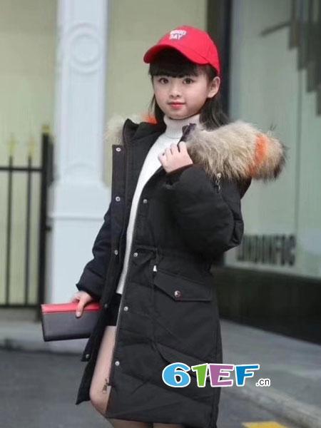 欧米源童装品牌休闲潮范棉服男女童冬季显瘦保暖潮衣