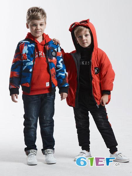 YukiSo童装品牌2018秋冬新款儿童运动两件套卫衣中大童休闲