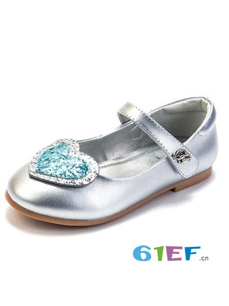 富罗迷童装品牌2019春季真皮韩版舞蹈鞋软底水晶鞋中童