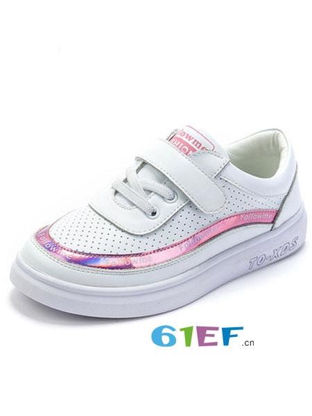 富罗迷童装品牌2019春季小白鞋韩版休闲运动鞋潮
