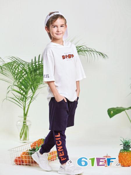 铅笔俱乐部童装品牌2019春夏长袖刺绣短款上衣