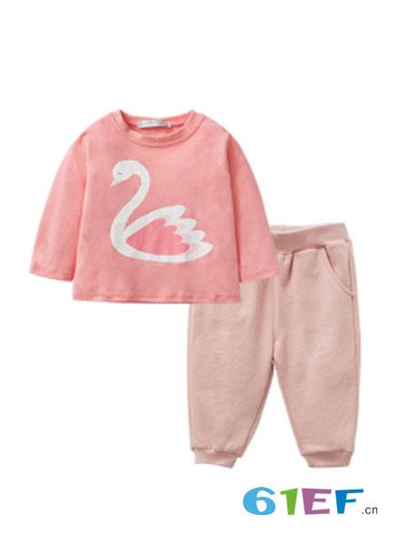 咕噜日记PurrfectDiar童装品牌2018秋冬新款韩版中大儿童加绒加厚洋气运动两件套