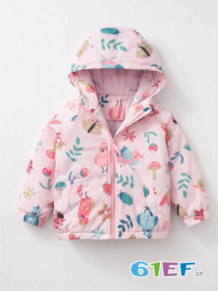 咕噜日记PurrfectDiar童装品牌2018秋冬新款男小童印花保暖加棉风衣