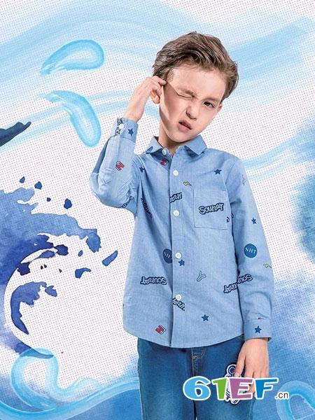 水孩儿souhait童装品牌2019春季新款衬衫韩版衬衣纯棉儿童装