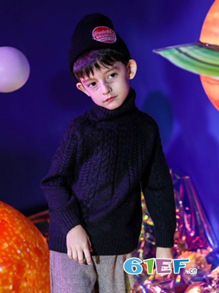 汤尼罗宾童装品牌2018秋冬新款加厚高领保暖小男孩打底衫