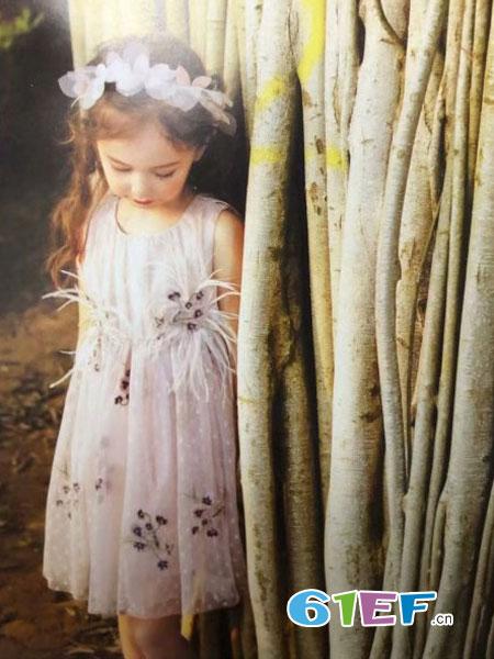 魔方童装品牌2019春季新款洋气蓬蓬裙儿童潮衣时髦网纱公主裙子