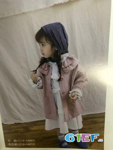 魔方童装品牌2019春季上衣韩版v领外搭