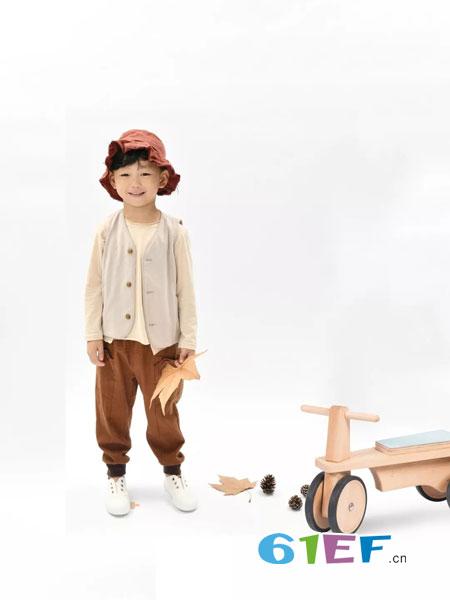 NNE&KIKI童装品牌2019春季白色圆领日系复古长袖衬衫纯棉