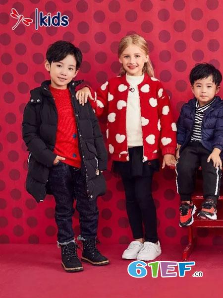 红蜻蜓KIDS童装品牌2018秋冬可爱百搭风开衫上衣毛衣上衣