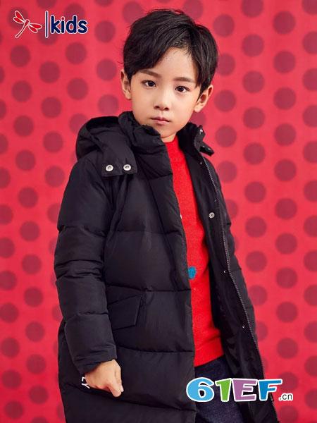 红蜻蜓KIDS童装品牌2018秋冬韩版棉衣加厚外套中大童儿童棉服潮