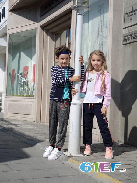 BULL BONE BULL童装品牌2019春夏长袖条纹针织外套