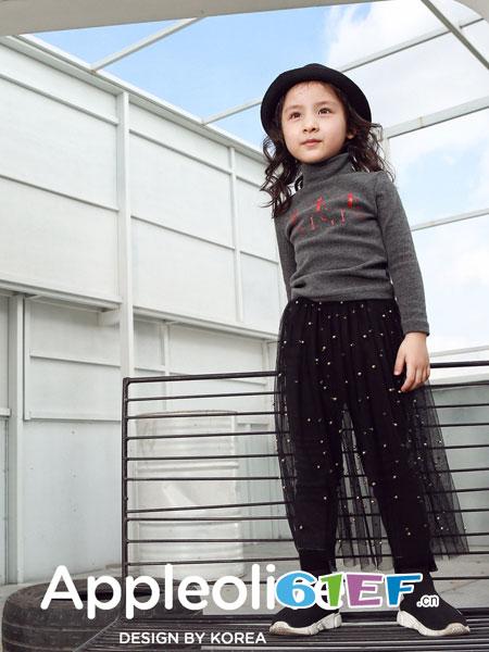 Apple Orange童装品牌2018秋冬打底衫加绒长袖上衣卫衣棉绒衫