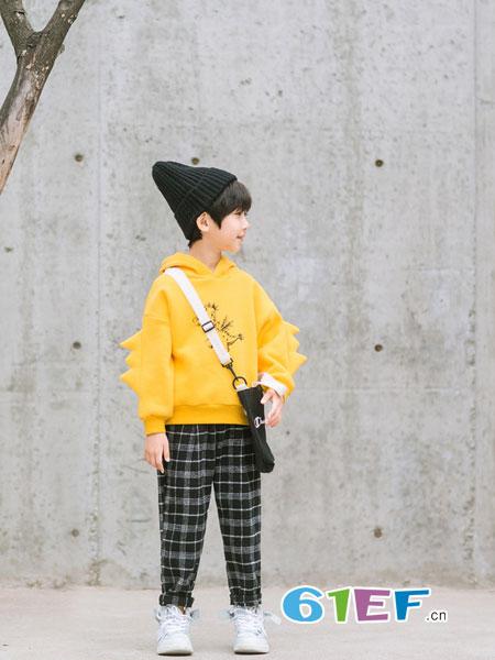 植木森系童装品牌2018秋冬新款儿童加绒上衣保暖长袖
