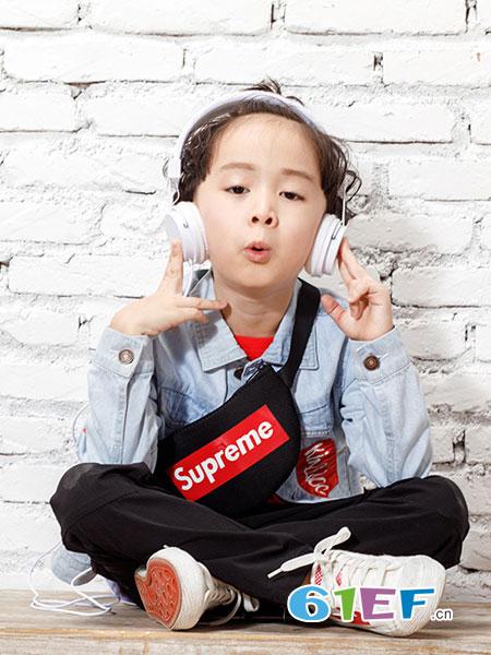 乖乖狗童装品牌2019春夏短款修身弹力韩版百搭潮流长袖
