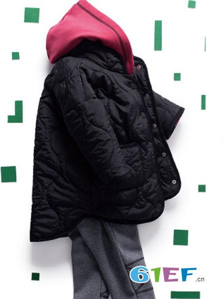 mayas童装品牌2018秋冬中长款棉袄儿童洋气羽绒棉服外套潮