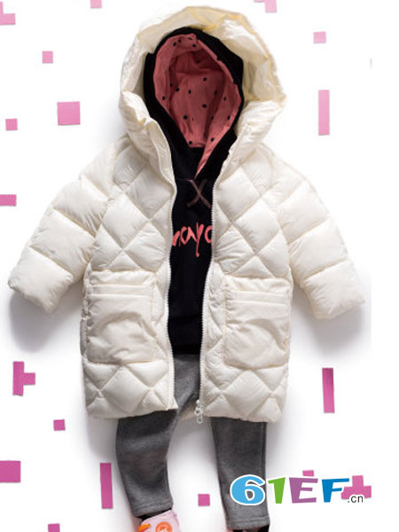 mayas童装品牌2018秋冬新款儿童羽绒服长款保暖羽绒外套