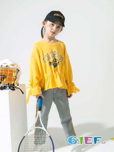 兔子杰罗童装品牌2019春季新款韩版中大童运动两件套洋气