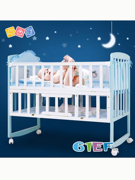 阿心乐婴童用品功能环保新生儿bb摇篮床宝宝床拼接大床儿童床