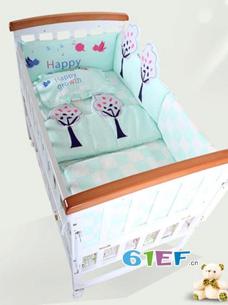 阿心乐婴童用品床围防撞围可拆洗床品五六件套