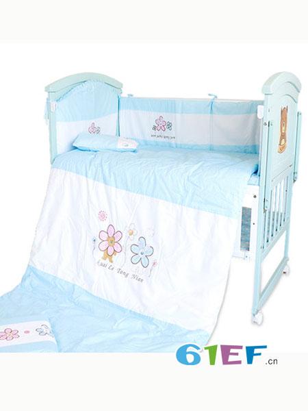 阿心乐婴童用品纯棉宝宝用品全棉床品防撞可拆洗六件套用品