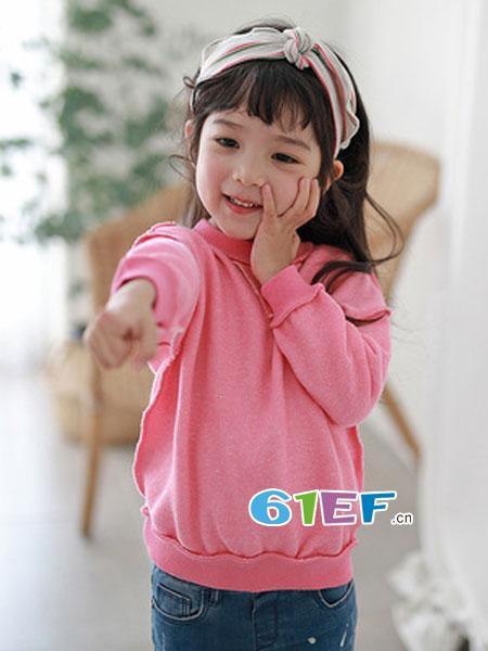 嘟呗童装品牌2019春季卫衣时尚潮流糖果色