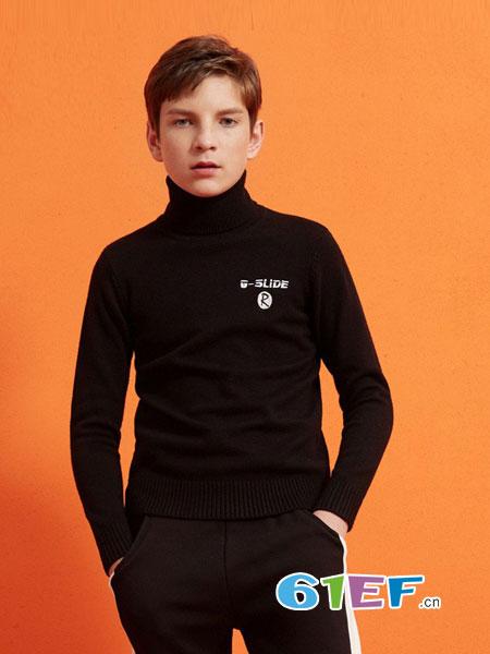 棵棵树童装品牌2018秋冬保暖T恤两件套打底衫